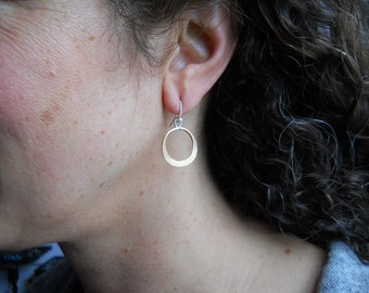 Extra Small Brass and Sterling Hammered circles