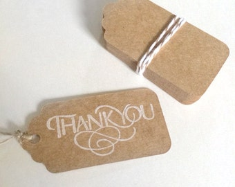 20 blank mini scalloped kraft tags  - gift wrapping tags - wedding tags - packaging tags - gift tags - wedding favor tags - small kraft tags