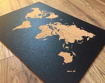 Corkboard map etsy map cork board beautiful mandalla design decorative 16 x 12 inch world map gumiabroncs Choice Image