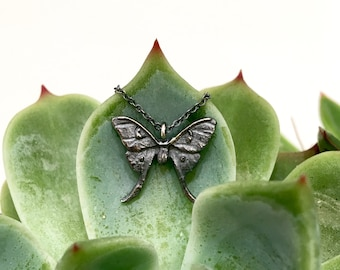 Tiny Luna Moth Necklace
