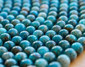 8mm Apatite beads, full strand, natural stone beads, round, 80098