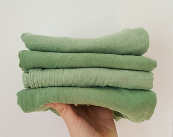 Botanically Dyed Floursack Tea Towel / Plant Dyed / Kitchen Linens / Naturally Dyed / Dyed Cotton / Bathroom Linens / Hand towels /