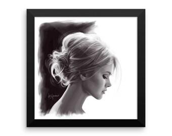 Girl with a Bun • Framed