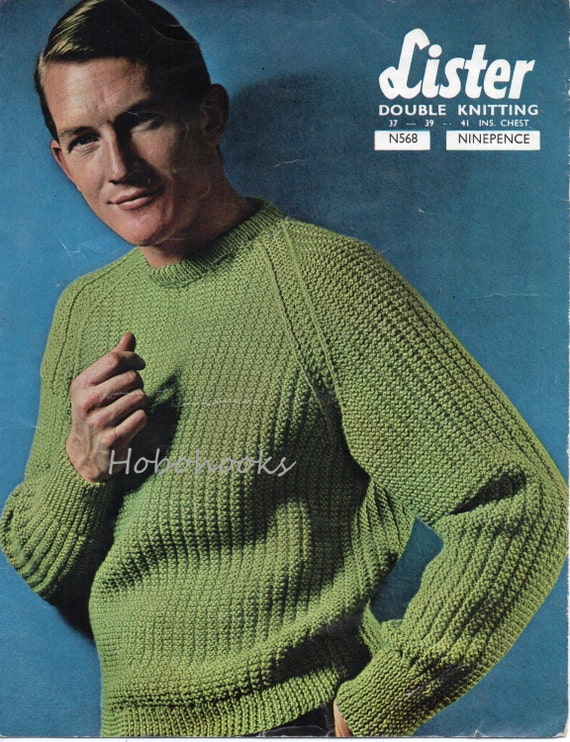 Mens Ribbed Sweater Knitting Pattern Fishermans Rib Sweater Ribbed