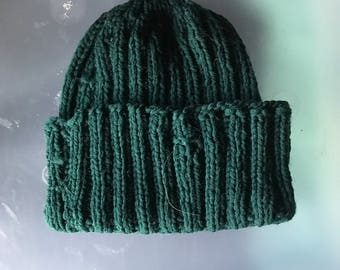 Forest Green Knit Hat Toddler Small Child