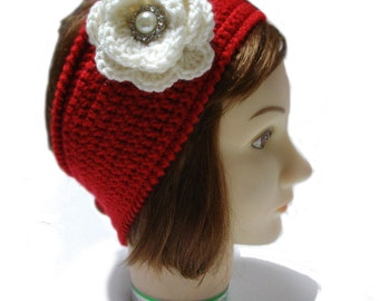 Crochet Headband, crochet headwrap, Red headband  women, Headband for teens, Crochet Adult headband, crochet headband women, gift mom gift