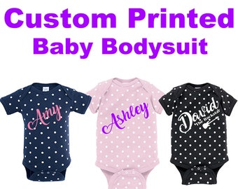 Custom Printed Baby Onesie Toddler kid  Infant apparel