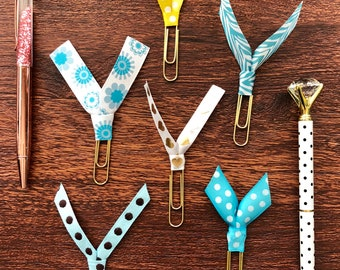 Planner Paperclips | Ribbon Ties | Ribbon Planner Paperclips