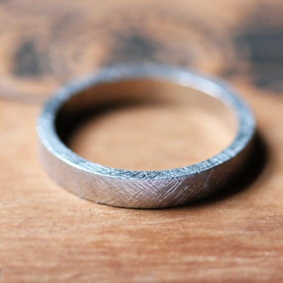 Palladium wedding ring modern wedding ring alternative