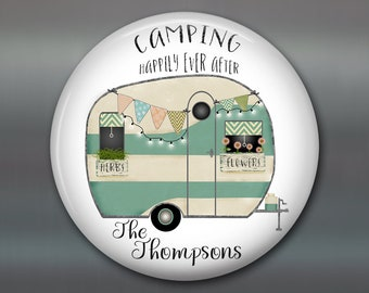 Happily ever after sign fridge magnet happy camper decor - personalized camping gifts for her - trailer decorations camper sign - MA-PERS-8