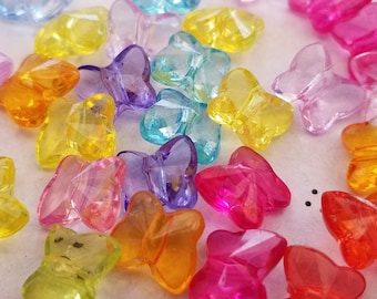 Acrylic Butterfly Beads (25)