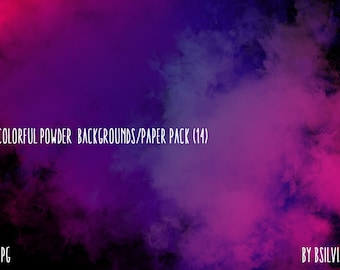 Colorful Powder Scrapbooking Paper Pack, 12x12 Digital Scrapbooking Papers, Colorful Backgrounds, Digital Backgrounds, Instant Download