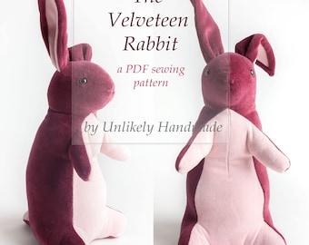 Velveteen Rabbit Sewing Pattern | Bunny Rabbit Stuffed Animal | Soft Toy | PDF Pattern | Sewing Pattern