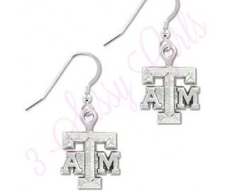 Texas A&M Wire Logo Earring