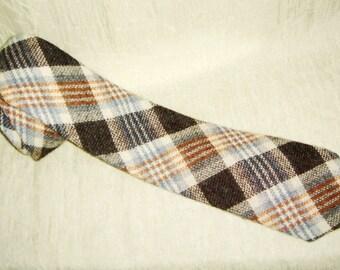 Vintage Men's Scotland Wool Plaid Neck Tie