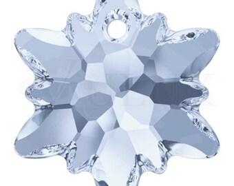 Swarovski 6748 Edelweiss Pendant  18 mm Crystal Blue Shade