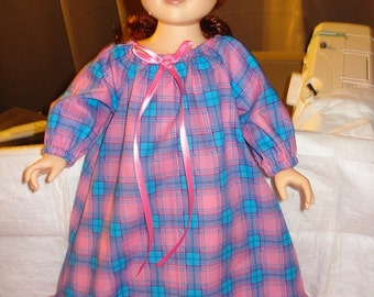SALE - GIFT SET - 18 inch Dolls matching nightgown, quilt & pillow set - ag93a