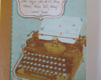 """small notebook - themed """"typewriter"""" style vintage Ribbon"""
