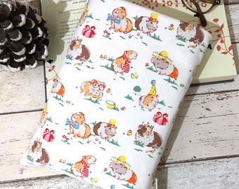 Guinea Pig Book Buddy, Paperback or Hardback Book Cover, Cath Kidston Fabric, Birthday Book Gift, Bookish Accessories, Padded Book Pouch