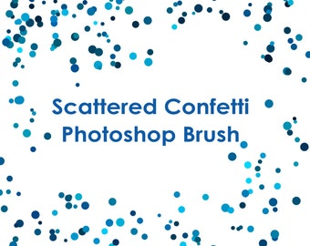 Commercial Use Instant Download Round Confetti Photoshop GIMP Brush - Add-on for Adobe Photoshop Brushes .ABR