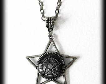 Pentagram Necklace, Star Necklace, Gothic Witch Jewelry, Wiccan Necklace, Pagan Jewelry, Alternative Jewelry, Pentagram Pendant