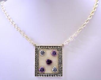 Aluminum Floral Necklace