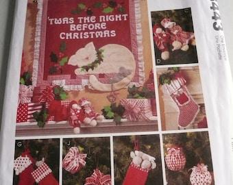 McCalls Craft Pattern 8443 Joanna Beratta Twas the Night Before Christmas Decorations