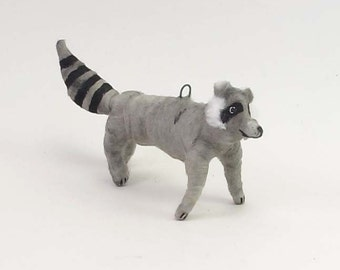 Spun Cotton Vintage Inspired Raccoon Figure/Ornament (MADE TO ORDER)
