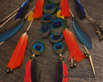 """Dream Catcher Wall Hanging Feathers Home Decor Boho Dreamcatcher Wall Decor Cruelty Free Bird Feathers Traditional Native American Style 16"""""""