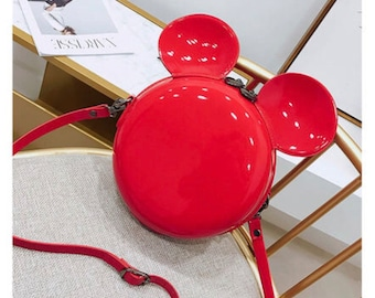 Red Mouse ears  purse