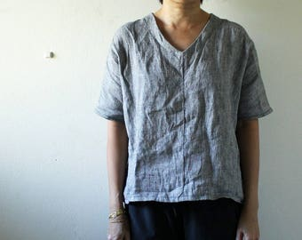 READY TO SHIP / linen blouse / Size Xs-S