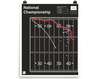 Auburn Football Poster: National Championship (2011)