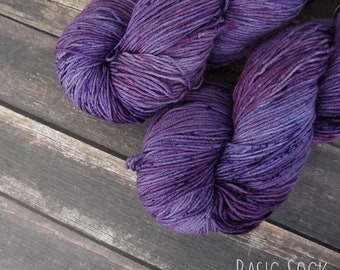 RTS Hestia Mythical Gods Collection Choose Your Base Yarn Purple Tonal Speckle