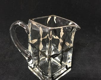 Vintage Art Deco Creamer with Sterling Silver Overlay