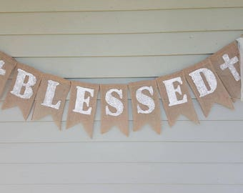 Blessed banner with crosses