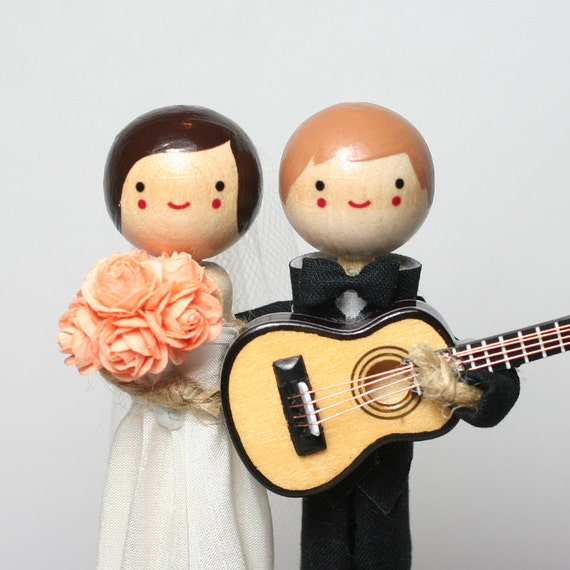musical wedding cake toppers custom wedding cake topper with 1x instrument theme 17665