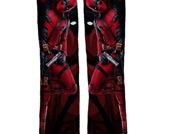 Deadpool Socks | Stocking Stuffers | Boys Socks | Deadpool Mens Socks | Red Socks