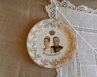 Commemorative Plates, Grace Kelly, Rainier of Monacco, Monacco Memorabilia