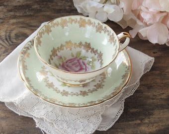 Stanley English Bone China Ornate Tea Cup and Saucer Mid Century Floral Tea Party Gifts for Her Wedding