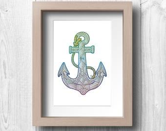 Anchor - Printable Wall Art