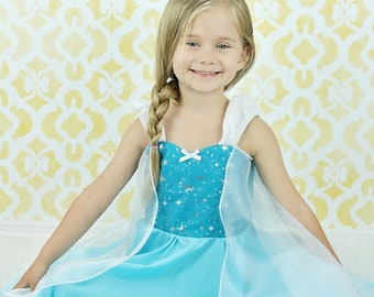 Elsa dress, Frozen dress, Elsa costume, princess  dress, Frozen birthday party dress, vacation outfit