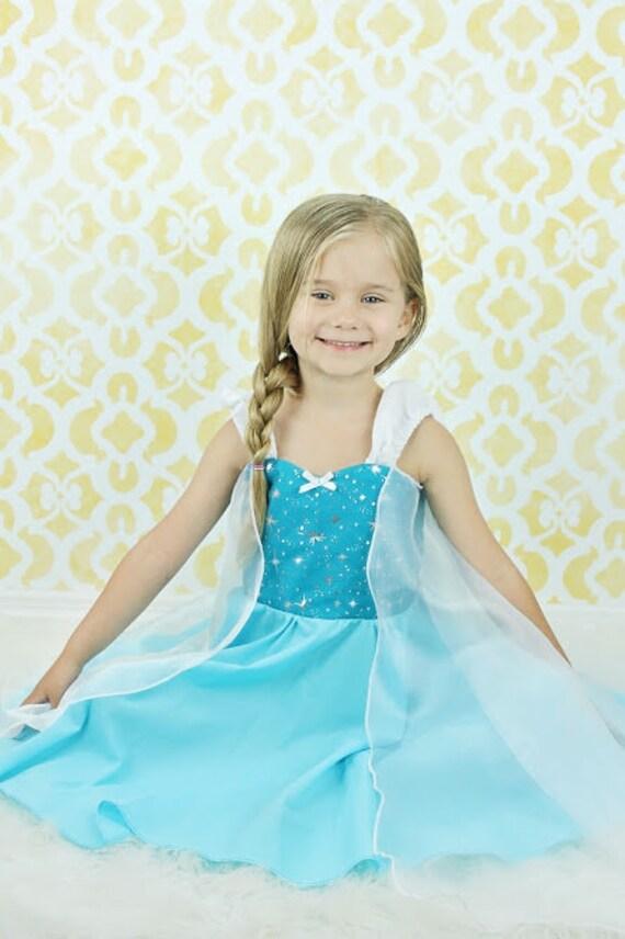 Elsa-Kleid Frozen Elsa-Kostüm Prinzessin Kleid gefrorene