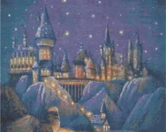 Harry Potter Hogwarts Castle Cross Stitch Pattern
