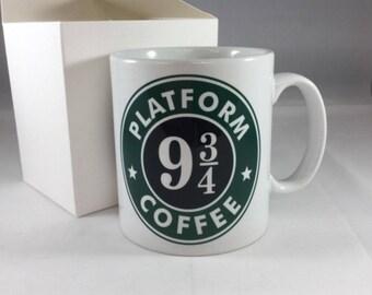 Harry Potter inspired Mug Platform 9 3/4