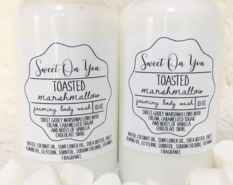 Marshmallow, Foaming Body Wash, Body Wash, Soap, Liquid Soap, Bath wash, Bath and Body, Dessert Beauty, Skin Care, Beauty, Moisturizer, Soap
