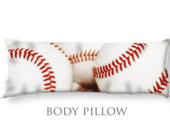 Baseball Body Pillow-Baseball Bed Pillow-Large Sleeping Pillow-Large Pillow Cover-Sports Pillow Cover-Baseball Pillow Cover-Bed Bolster