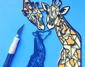 Custom | Animal | Papercut | Geometric | Handmade