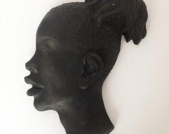 Mid Century african female head - Blackamoor
