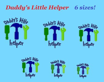 daddy's little helper embroidery designs aplique daddy's little helper design embroidery machine