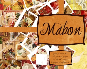 Junk Journal Printable kit: MABON